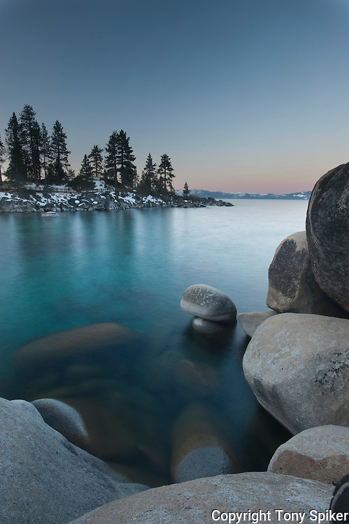 """Sand Harbor Sunrise 5"" - A winter sunrise at Sand Harbor, on Lake Tahoe's Eastern shore"