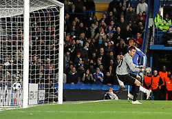 Chelsea`s Daniel Sturridge scores his sides first goal  Chelsea vs MSK Zilina  for the  Uefa Champions Premier League, Group H,  at Stamford Bridge stadium in London on 23/11/2010. Picture By Rob Noyes  ©IPS   Photo Agency:21 Delisle Road  London SE28 0JD - Personal mobile: 07966 515 681