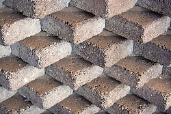 Wall made from bricks in the Canary Islands,