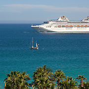 Cruise ship in Cabo San Lucas bay. BCS. Mexico.