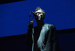 © Licensed to London News Pictures. 03/09/2016. Bristol, UK. GRANT MARSHALL aka DADDY G of MASSIVE ATTACK plays on the main stage at the Massive Attack music event on Bristol Downs. Photo credit : Simon Chapman/LNP
