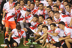 10.12.2014, River Plate Stadium, Buenos Aires, ARG, Südamerika Cup 2014, River Plate vs Atletico Nacional de Medellin, im Bild River Plate players, from argentinian?s football team, celebrates its tryumph // during the 2nd final match of Southamerican Cup between River Plate vs Atletico Nacional and Medellin at the River Plate Stadium in Buenos Aires, Argentina on 2014/12/10. EXPA Pictures © 2014, PhotoCredit: EXPA/ Eibner-Pressefoto/ Cezaro<br /> <br /> *****ATTENTION - OUT of GER*****