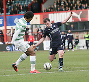 Dundee's Paul McGowan fires in a shot which was brilliantly saved by Celtic&rsquo;s Craig Gordon - Dundee v Celtic, William Hill Scottish Cup fifth round at Dens Park <br /> <br /> <br />  - &copy; David Young - www.davidyoungphoto.co.uk - email: davidyoungphoto@gmail.com