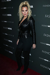 HOLLYWOOD, LOS ANGELES, CA, USA - NOVEMBER 14: Khloe Kardashian arrives at the Fashion Nova x Cardi B Collaboration Launch Event held at Boulevard3 on November 14, 2018 in Hollywood, Los Angeles, California, United States. 14 Nov 2018 Pictured: Khloe Kardashian. Photo credit: Xavier Collin/Image Press Agency/MEGA TheMegaAgency.com +1 888 505 6342