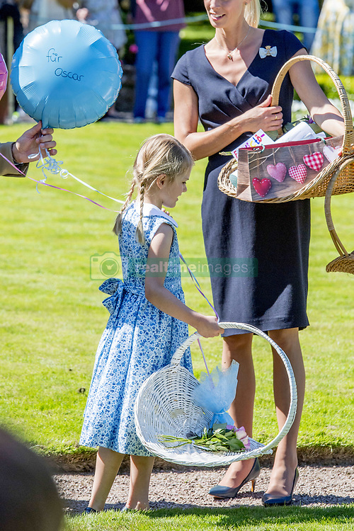 Princess Estelle during the traditionally celebration of Crown Princess Victoria's birthday at the royal family's summer residence, Solliden Palace in Borgholm, Öland, Sweden, on July 15, 2017, a day later Stockholm celebration. Photo by Robin Utrecht/ABACAPRESS.COM