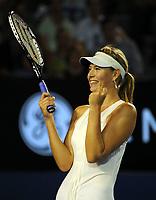 Australian Open  24/01/2008<br />Maria Sharapova (RUS) wins her semi final against Jelena Jankovic (SRB)<br />Photo Anne Parker Fotosports International