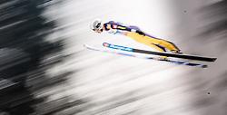 03.01.2016, Bergisel Schanze, Innsbruck, AUT, FIS Weltcup Ski Sprung, Vierschanzentournee, Probedurchgang, im Bild Ronan Lamy Chappuis (FRA) // Ronan Lamy Chappuis of France during his Trial Jump for the Four Hills Tournament of FIS Ski Jumping World Cup at the Bergisel Schanze, Innsbruck, Austria on 2016/01/03. EXPA Pictures © 2016, PhotoCredit: EXPA/ JFK