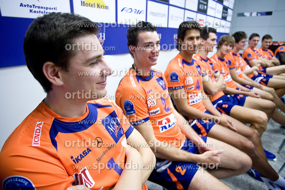 Andrej Flajs and Alen Pajenk at press conference of volleyball club ACH Volley before new season 2009/2010,  on September 28, 2009, in Ljubljana, Slovenia.  (Photo by Vid Ponikvar / Sportida)