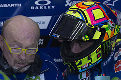 November 11, 2017 - Cheste, Spain - Valentino Rossi (Movistar Yamaha MotoGP) on pit  during qualifying session at Valencia Motogp  (Credit Image: © Gaetano Piazzolla/Pacific Press via ZUMA Wire)