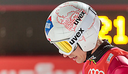 06.01.2016, Paul Ausserleitner Schanze, Bischofshofen, AUT, FIS Weltcup Ski Sprung, Vierschanzentournee, Bischofshofen, Finale, im Bild Kamil Stoch (POL) // Kamil Stoch of Poland reacts after his 1st round jump of the Four Hills Tournament of FIS Ski Jumping World Cup at the Paul Ausserleitner Schanze in Bischofshofen, Austria on 2016/01/06. EXPA Pictures © 2016, PhotoCredit: EXPA/ JFK