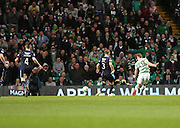 Celtic's James Forrest scores Celtic's fourth goal -  Celtic v Dundee - SPFL Premiership at Celtic Park<br /> <br /> <br />  - © David Young - www.davidyoungphoto.co.uk - email: davidyoungphoto@gmail.com