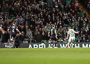 Celtic&rsquo;s James Forrest scores Celtic's fourth goal -  Celtic v Dundee - SPFL Premiership at Celtic Park<br /> <br /> <br />  - &copy; David Young - www.davidyoungphoto.co.uk - email: davidyoungphoto@gmail.com
