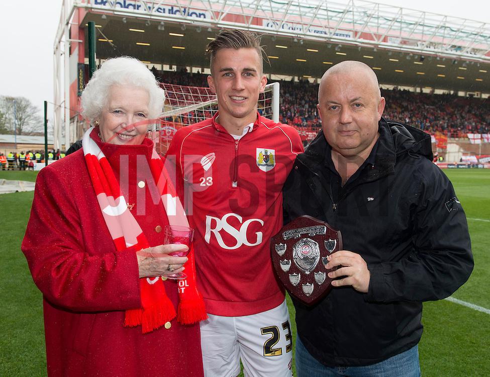 Bristol City's Joe Bryan, Supporters Trust award for young player - Photo mandatory by-line: Joe Meredith/JMP - Mobile: 07966 386802 - 03/05/2015 - SPORT - Football - Bristol - Ashton Gate - Bristol City v Walsall - Sky Bet League One