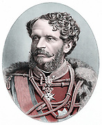 Count Julius Andrassy (1823-1890) Hungarian statesman, supporter of Kossuth and struggle for independence (1848-9). In exile until 1858; Prime Minister of Hungary 1867. Tinted lithograph published  c1880.