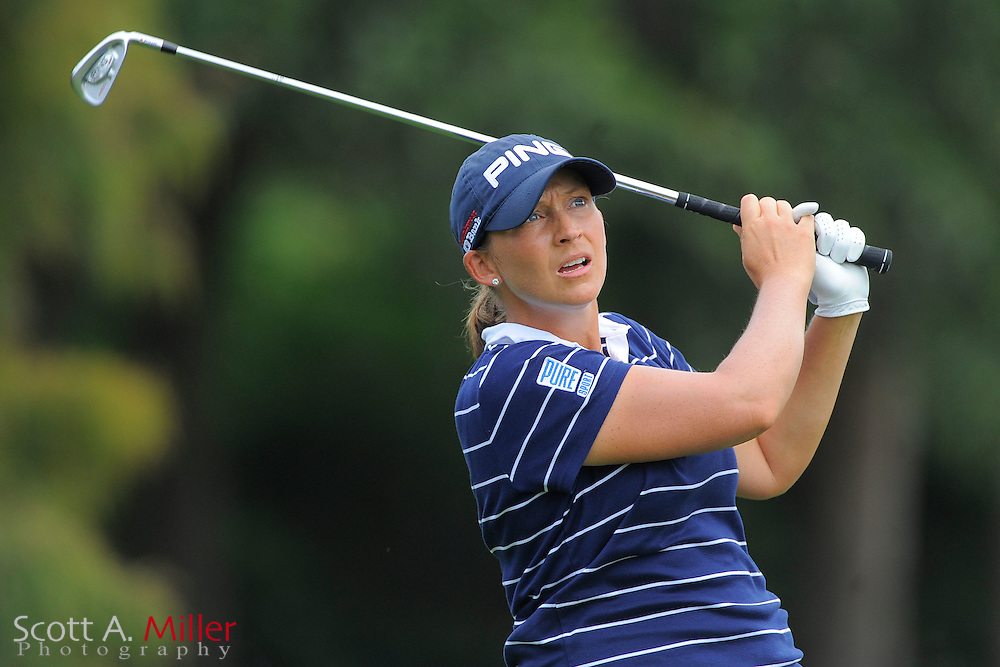 Angela Stanford during the first round of the CME Group Titleholders at Grand Cypress Resort on Nov. 17, 2011 in Orlando, Fla.  ..©2011 Scott A. Miller