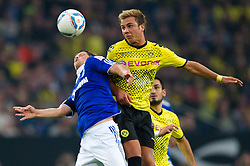 23.07.2011, Veltins arena, Gelsenkirchen, GER, Supercup, FC Schalke 04 vs. Borussia Dortmund, im Bild Zweikampf Alexander Baumjohann (#11 Schalke) - Mario Goetze (#11 Dortmund) // during the match FC Schalke 04 vs. Borussia Dortmund at Veltins arena 2011/07/23    EXPA Pictures © 2011, PhotoCredit: EXPA/ nph/  Kurth       ****** out of GER / CRO  / BEL ******