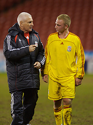 Sheffield, England - Thursday, February 15, 2007: Liverpool's Head of Youth Development Steve Heighway and Ray Putterill after the 3-1 victory over Sheffield United the FA Youth Cup Quarter-Final match at Bramall Lane. (Pic by David Rawcliffe/Propaganda)