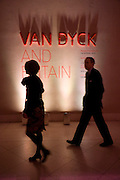 MRS. JOHN GLENCROSS; JOHN GLENCROSS, Van Dyck private view and dinner. Tate Britain. 16 February 2009