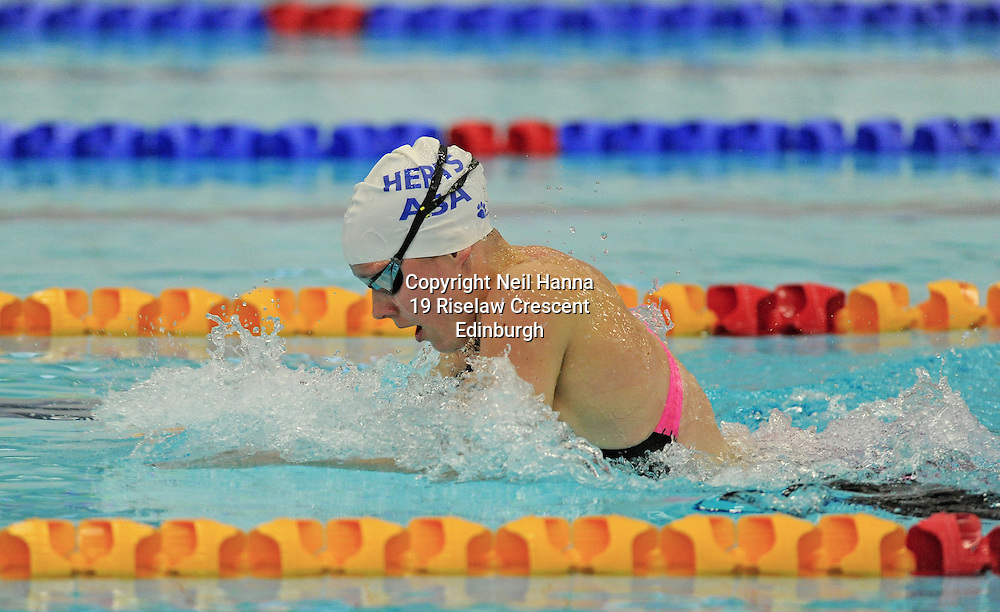 Royal Commonwealth Pool, Edinburgh<br /> Scottish Summer Meet - Sunday 26th July 2015-Day 3 Sunday Finals<br /> <br /> Event 310 Girls 18 200m Breaststroke<br /> <br /> Kate McQuaid<br /> <br /> <br /> <br /> Neil Hanna Photography<br /> www.neilhannaphotography.co.uk<br /> 07702 246823