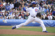 CHICAGO - MAY 17:  Edwin Jackson #36 of the Chicago Cubs pitches against the New York Mets on May 17, 2013 at Wrigley Field in Chicago, Illinois.  The Mets defeated the Cubs 3-2.  (Photo by Ron Vesely/MLB Photos via Getty Images)  *** Local Caption *** Edwin Jackson