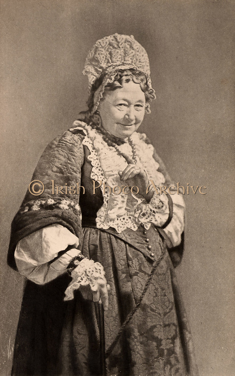 Fanny Stirling (1813-1895) English actress in one of her famous comedy roles, the Nurse, in the tragedy 'Romeo and Juliet' by William Shakespeare. Photogravure.