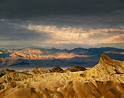 Storm clouds over Zabriskie Point, Death Valley National Park, California  1985