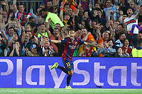 Neymar Jr of FC Barcelona celebrates after scoring his side's third goal during the UEFA Champions League semi-final first leg match, between FC Barcelona and Bayern Munchen on May 6, 2015 at Camp Nou stadium in Barcelona, Spain. <br /> Photo: Manuel Blondeau/AOP.Press/DPPI