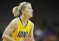 January 27 2010: Iowa guard Kamille Wahlin (2) during the first half of an NCAA women's college basketball game at Carver-Hawkeye Arena in Iowa City, Iowa on January 27, 2010. Iowa defeated Michigan State 66-64.