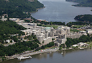 The U.S. Military Academy at West Point on June 20, 2011. This view is looking north up the Hudson River.