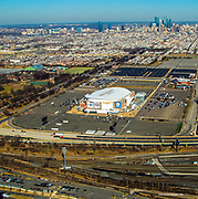 Aerial view of the View Philadelphia Sports Complex skyline. Aerial view of the Philadelphia Sports Complex skyline.