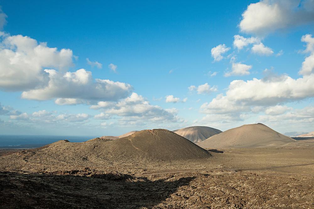 Volcanic landscape. Timanfaya National Park. Lanzarote, Canary Islands. Spain.
