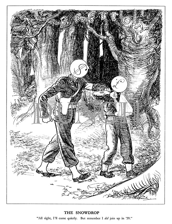 """The Snowdrop. """"All right, I'll come quietly. But remember I did join up in '39."""""""