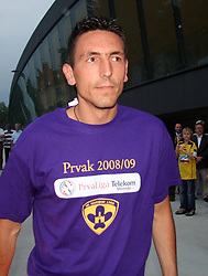 Zoran Pavlovic after last football match of PrvaLiga Telekom Slovenije between NK Maribor and NK Interblock, when Maribor became a Slovenian National Champion, on May 23, 2009, in Ljudski vrt, Maribor. (Photo by Marjan Kelner/Sportida)