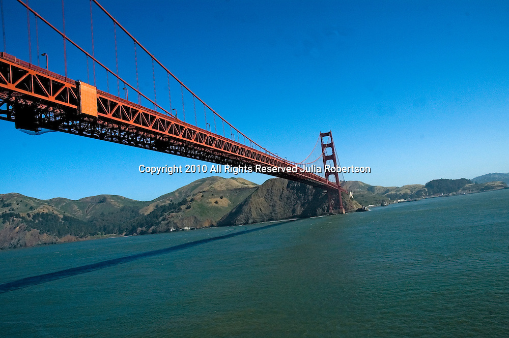 Aerial photograph of the Golden Gate Bridge