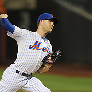 Pitcher Erik Goeddel, New York Mets, pitching during the New York Mets Vs Miami Marlins MLB regular season baseball game at Citi Field, Queens, New York. USA. 16th September 2015. Photo Tim Clayton