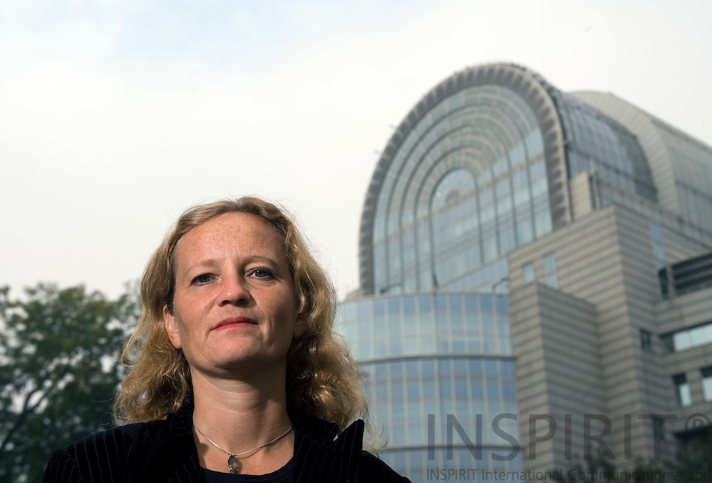 BRUSSELS - BELGIUM - 08 OCTOBER 2007 -- Journalist Marianne BJÖRKLUND, Dagens Nyheter. Photo: Erik Luntang