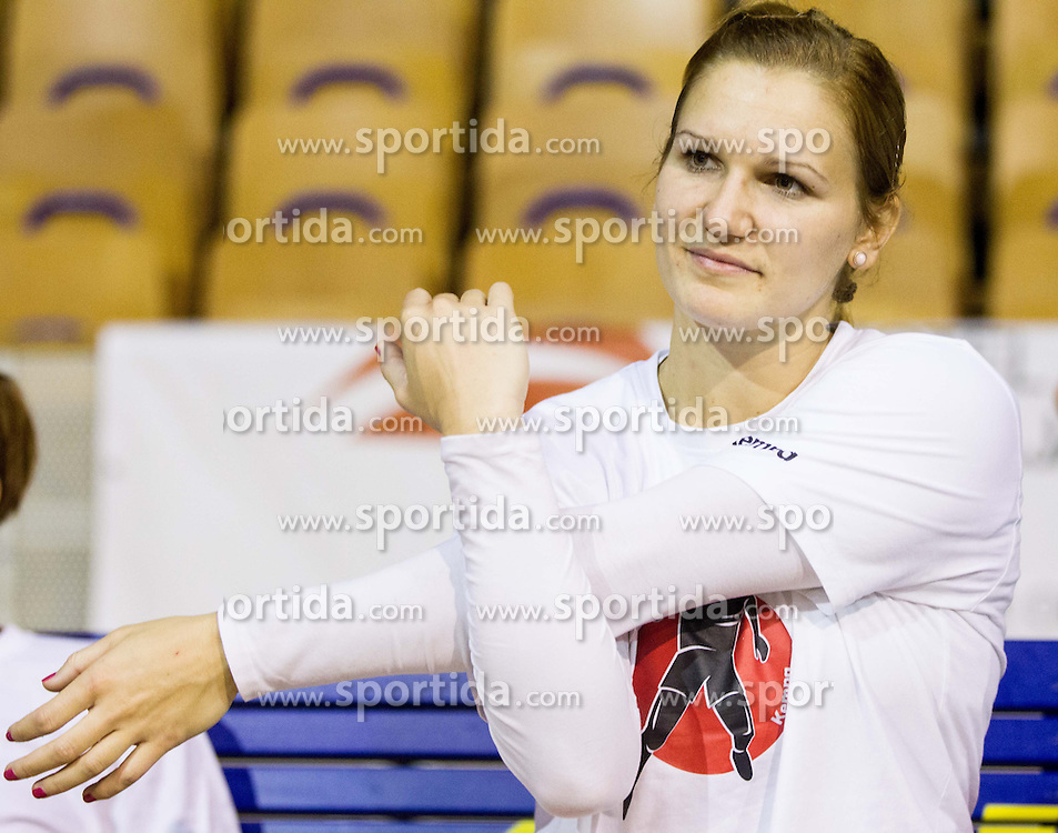 Neli Irman during practice session of Slovenian Women handball National Team three days before match against Serbia, on October 24, 2013 in Arena Tivoli, Ljubljana, Slovenia. (Photo by Vid Ponikvar / Sportida)
