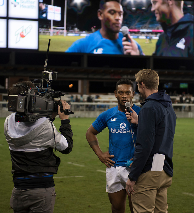 Samoa play Tonga at the Silicon Valley Sevens in San Jose, California. November 4, 2017. <br /> <br /> By Jack Megaw.<br /> <br /> WSMTON<br /> <br /> www.jackmegaw.com<br /> <br /> jack@jackmegaw.com<br /> @jackmegawphoto<br /> [US] +1 610.764.3094<br /> [UK] +44 07481 764811