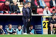 AFC Wimbledon first team coach Simon Bassey  and AFC Wimbledon manager Neal Ardley during the EFL Sky Bet League 1 match between Charlton Athletic and AFC Wimbledon at The Valley, London, England on 28 October 2017. Photo by Matthew Redman.