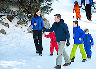 Verbier, 08-02-2015<br /> <br /> <br /> Photo session with Crown Prince Frederik and Crown Princess Mary of Denmark with their children at their ski holidays in Verbier , Switserland.<br /> <br /> <br /> Photo: Bernard Ruebsamen/Royalportraits Europe