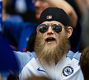 Chelsea fan during the The FA Cup match between Chelsea and Southampton at Wembley Stadium, London, England on 22 April 2018. Picture by Sebastian Frej.