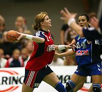 Håndball, 25. september 2002. Treningskamp, Norge - Jugoslavia 28-29. Tonje Larsen, Norge