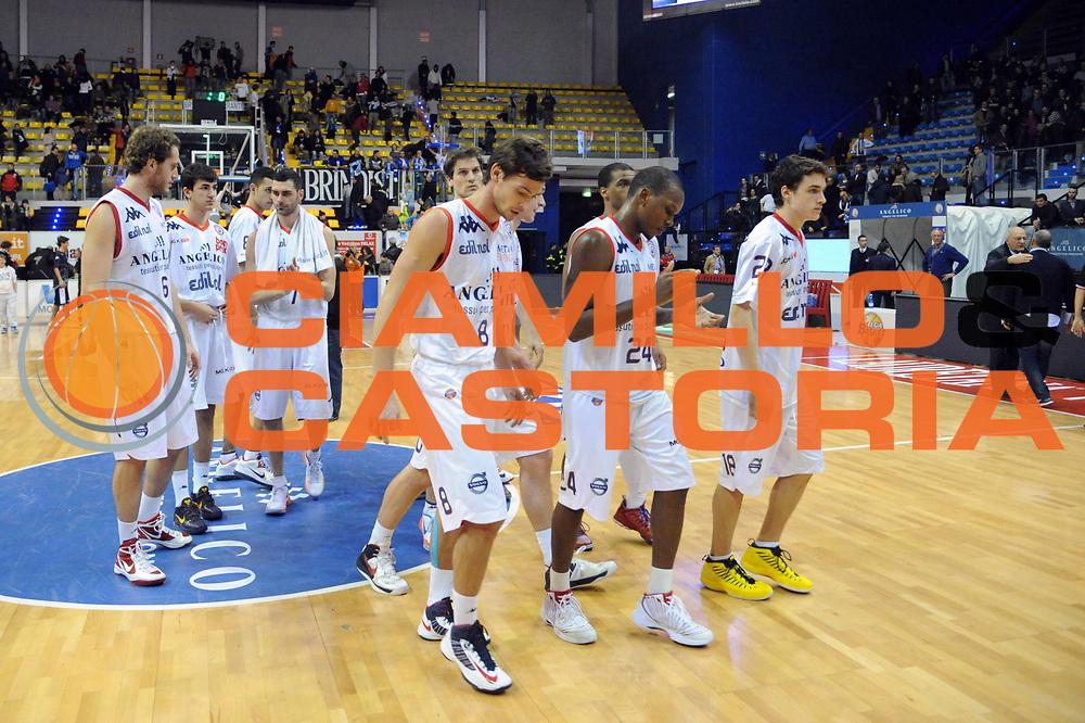DESCRIZIONE : Biella Lega A 2012-13 Angelico Biella Enel Brindisi<br /> GIOCATORE : Team<br /> CATEGORIA : Delusione<br /> SQUADRA : Angelico Biella<br /> EVENTO : Campionato Lega A 2012-2013 <br /> GARA : Angelico Biella Enel Brindisi<br /> DATA : 23/12/2012<br /> SPORT : Pallacanestro <br /> AUTORE : Agenzia Ciamillo-Castoria/M.Ceretti<br /> Galleria : Lega Basket A 2012-2013  <br /> Fotonotizia : Biella Lega A 2012-13 Angelico Biella Enel Brindisi<br /> Predefinita :