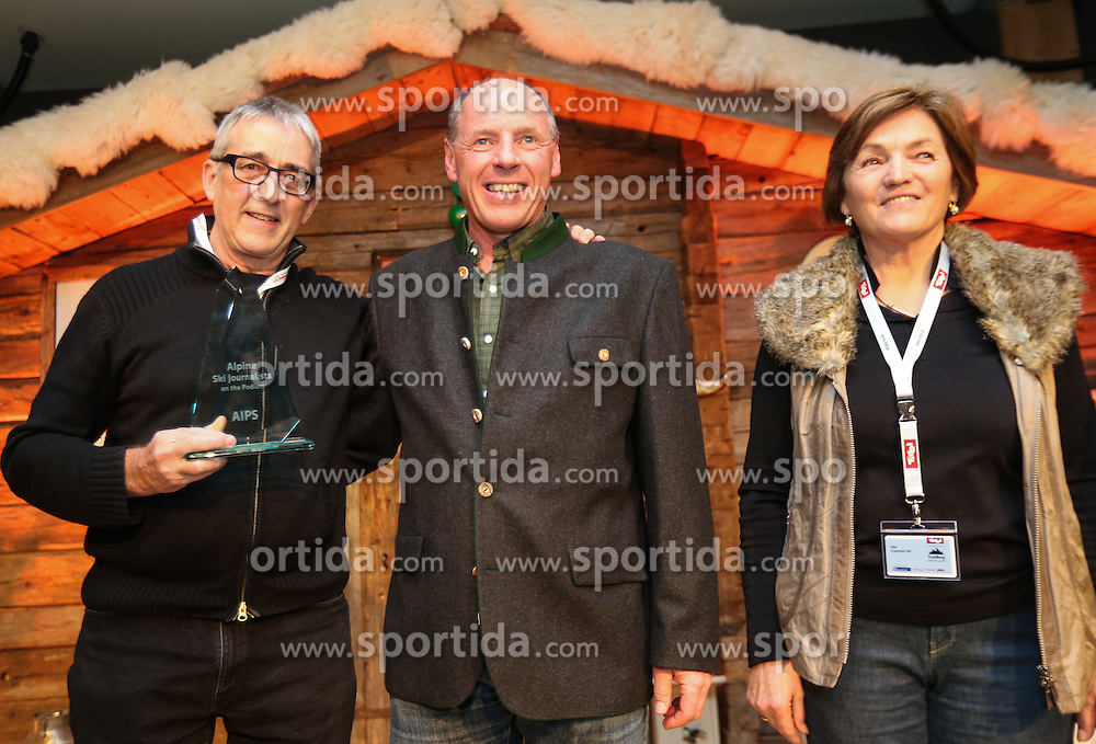 07.02.2013, Tirolberg, Schladming, AUT, FIS Weltmeisterschaften Ski Alpin, AIPS Night, im Bild, Mario Rall (SUI), Harti Weirather (Abfahrtsweltmeister 1982), Olga Scartezzini (Olympiasiegerin) // at the AIPS Night during FIS Ski World Championships 2013 at the Tirolberg, Schladming, Austria on 2013/02/07. EXPA Pictures © 2013, PhotoCredit: EXPA/ Johann Groder