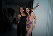 SAFFRON ALDRIDGE; RACHEL HAYTON;  Exhibition opening ' Alan Aldridge- The Man With Kaleidoscope Eyes' hosted by his daughter Saffron Aldridge. Design Museum. Shad Thames. London  SE1. *** Local Caption *** -DO NOT ARCHIVE -Copyright Photograph by Dafydd Jones. 248 Clapham Rd. London SW9 0PZ. Tel 0207 820 0771. www.dafjones.com