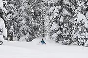 Julie Noble Bakkala, Canadian Mountain Holidays (CMH) heliskiing Nomads, British Columbia, Canada