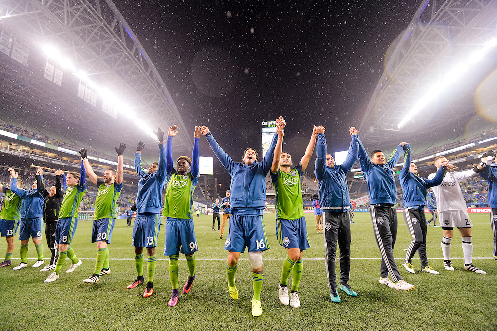 Oct. 30, 2016; Seattle, WA, USA; Western Conference Semifinal between the FC Dallas and the Seattle Sounders FC at CenturyLink Field. The Sounders topped Dallas 3-0. Photo credit: Alika Jenner - KLC fotos