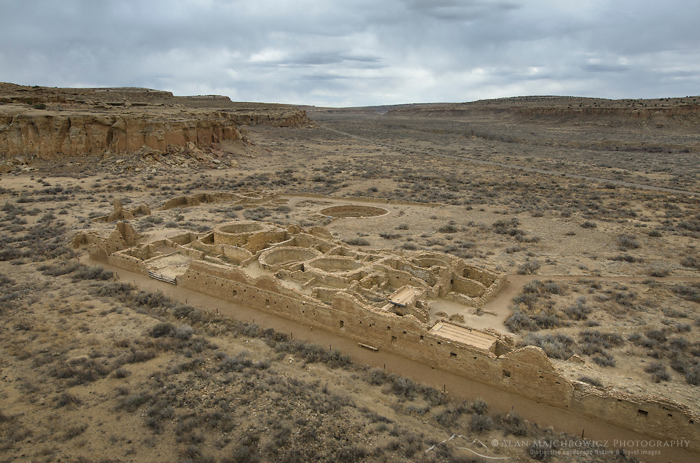 View of Chetro Ketl Ruins, Chaco Culture National Historical Park, New Mexico