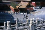 CHINA: Beijing (Peking).Two chinese men inside the Forbidden City