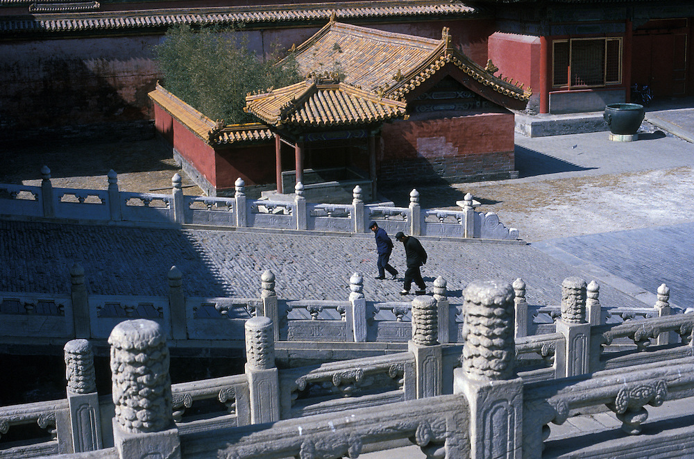 CHINA: Beijing (Peking).Two chinese men inside the Forbidden City